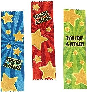 Fun Express 12 ~ Satin You're a Star! Award Ribbons ~ Approx. 7