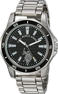 Men's Analog-Quartz Watch with Alloy Strap, Silver, 21.5...