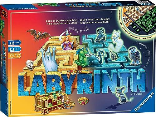 Ravensburger 26693 - Labyrinth-Glow im Dunkeln - Das bewegende Labyrinthspiel, Mehrfarbig