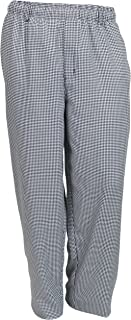 Mercer Culinary M60030HTM Millennia Men's Cook Pants in Hounds Tooth, Medium, Black/White
