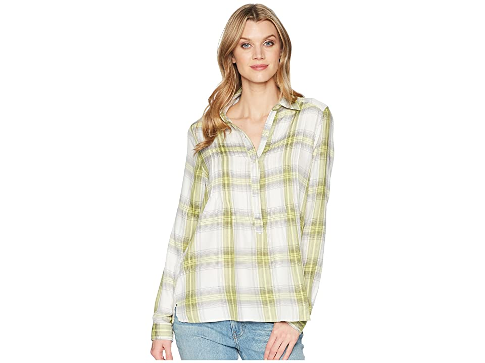 Cruel Long Sleeve Rayon Pintuck Tunic (Green) Women