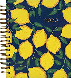 $29 » 2019-2020 Eccolo Spiral Agenda Planner, Lemon Tree, Hardcover, Weekly & Monthly Views, 18 Months, Sticker Sheets, Full Color Graphics and Quotes. 7.25 x 8.75