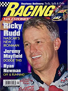 2002 - May - Racing Milestones - Ricky Rudd The New Ironman Cover - Jeremy Mayfield/Ryan Newman plus more - Collectible