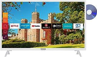 Telefunken XF32J519D-W 32 inch televisie (Smart TV incl. Prime Video/Netflix/YouTube, Full HD, DVD-speler, Bluetooth, Work...