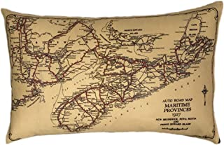 Nova Scotia Vintage Map Pillow
