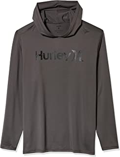 Hurley Men's One & Only Long Sleeve Hoodie Sun Protection UPF +50 Rashguard Shirt