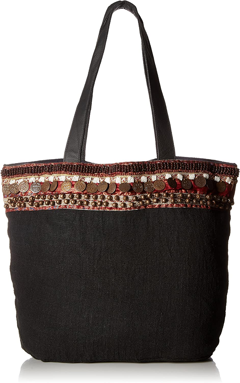 Ale by Alessandra womens Cleopatra Soft Linen Tote With Coin Belt Belt