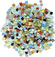 "Mosaic Mercantile Vitreous Glass Mosaic Tiles - Assorted Colors - 3/8"" - 1 Pound Bag"