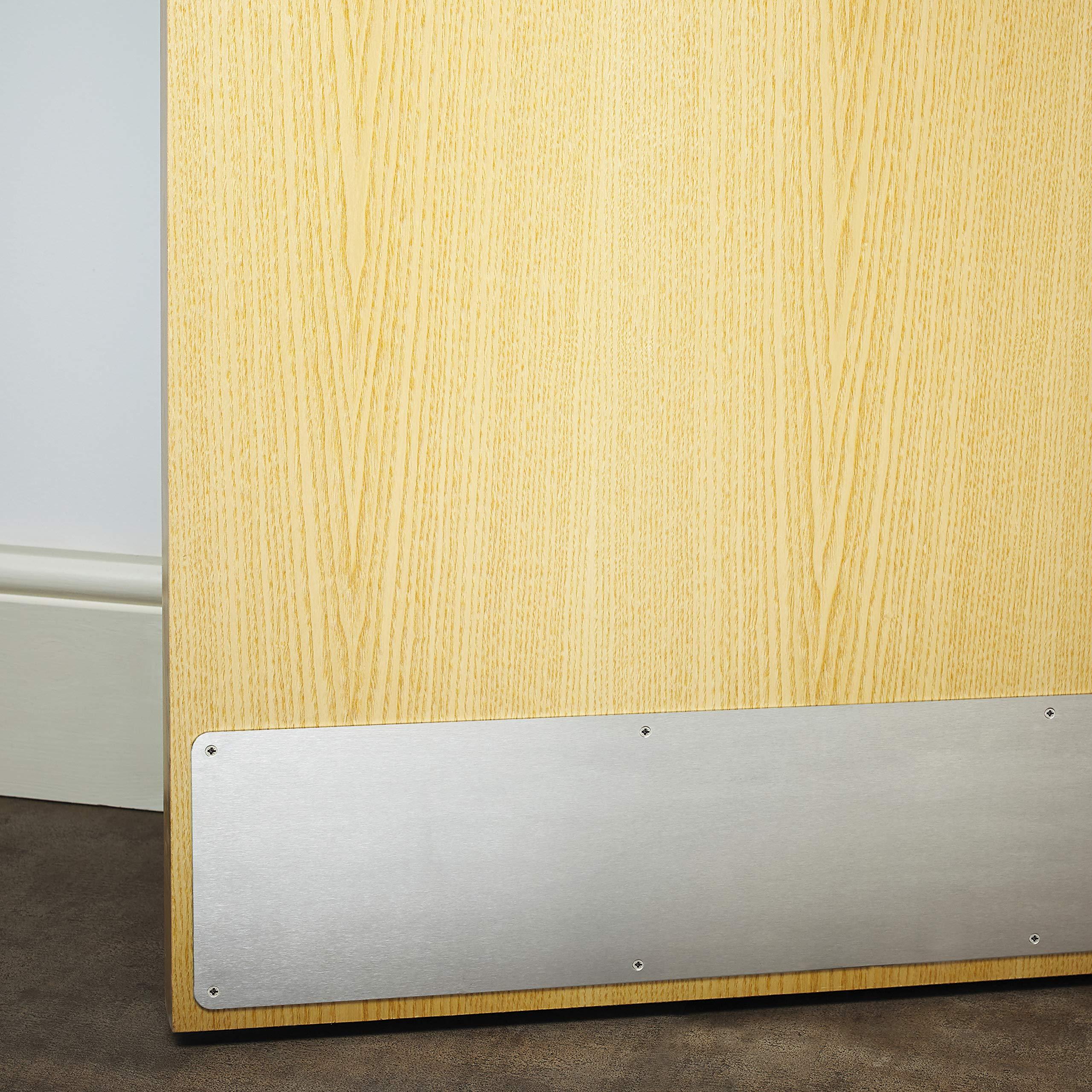 Satin Aluminium Kick Plate 32 x 6 Bottom Door Protection