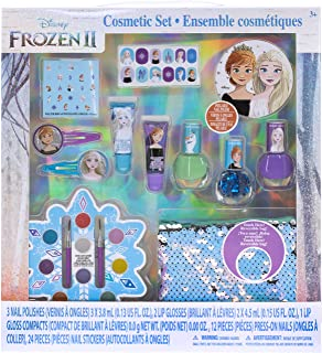 Townley Girl Frozen 2 Ultimate Makeover Set with over 20 Pieces, Including Lip Gloss, Nail Polish, Press-On Nails, Nail St...