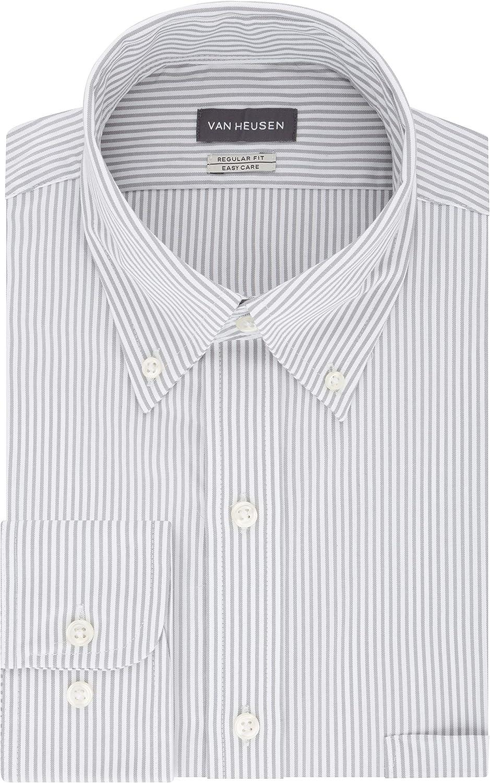 1930s Men's Clothing Van Heusen Mens Dress Shirt Regular Fit Pinpoint Stripe  AT vintagedancer.com