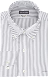Van Heusen Men's Dress Shirt Regular Fit Pinpoint Stripe