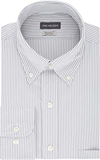 Men's Dress Shirt Regular Fit Pinpoint Stripe