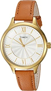 Timex Women's Peyton Leather Strap Watch