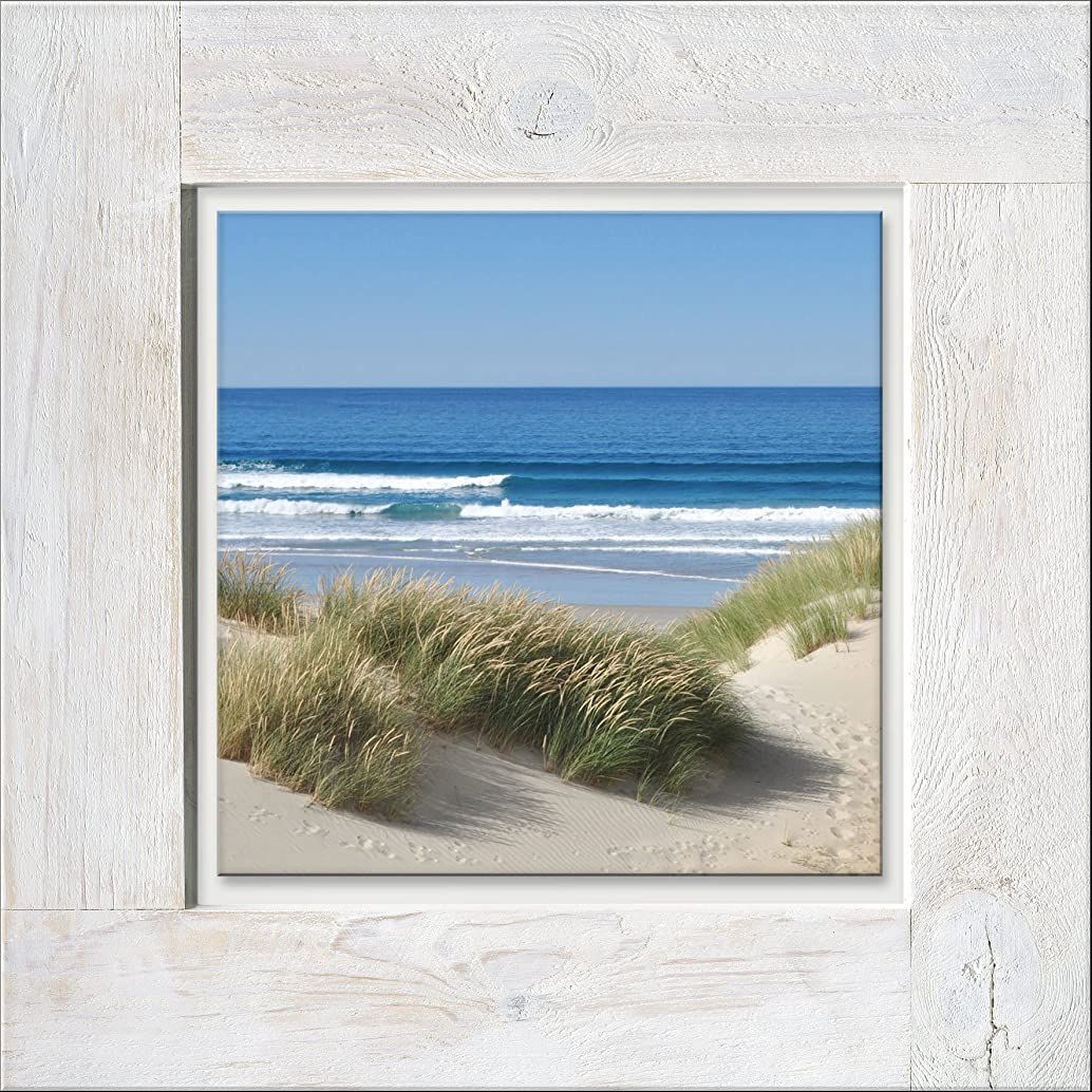 PRO Art Pictures Vintage Wood Palette HRG1217?A Wall Mural Footprints in The Sand