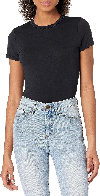 Daily Ritual Women's Cotton Stretch Standard-Fit T-Shirt Bodysuit