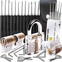30-Delige Lock Picking Set met 3 Transparante Training Sloten en Credit Card Lock Pick Tool Kit van Lock Cowboy + Handleid...