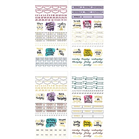 Paper House Productions SET-0015 Creative Journaling Sticker Bundle-includes 12 Sheets 4 Themes Over 500 Stickers