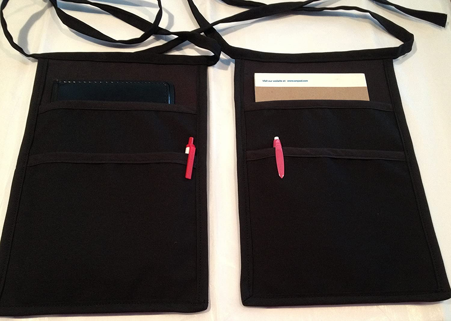 2 Black Side Apron money Pouch price. free price waitress one for waiter