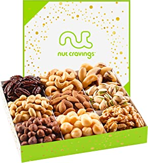 Holiday Mixed Nuts Gift Basket, Gourmet Mix of Assorted Fresh Nuts Food Tray for Christmas Prime Holiday Delivery, Mothers & Fathers Day, Birthday, Sympathy, Corporate Gift Box, By Nut Cravings