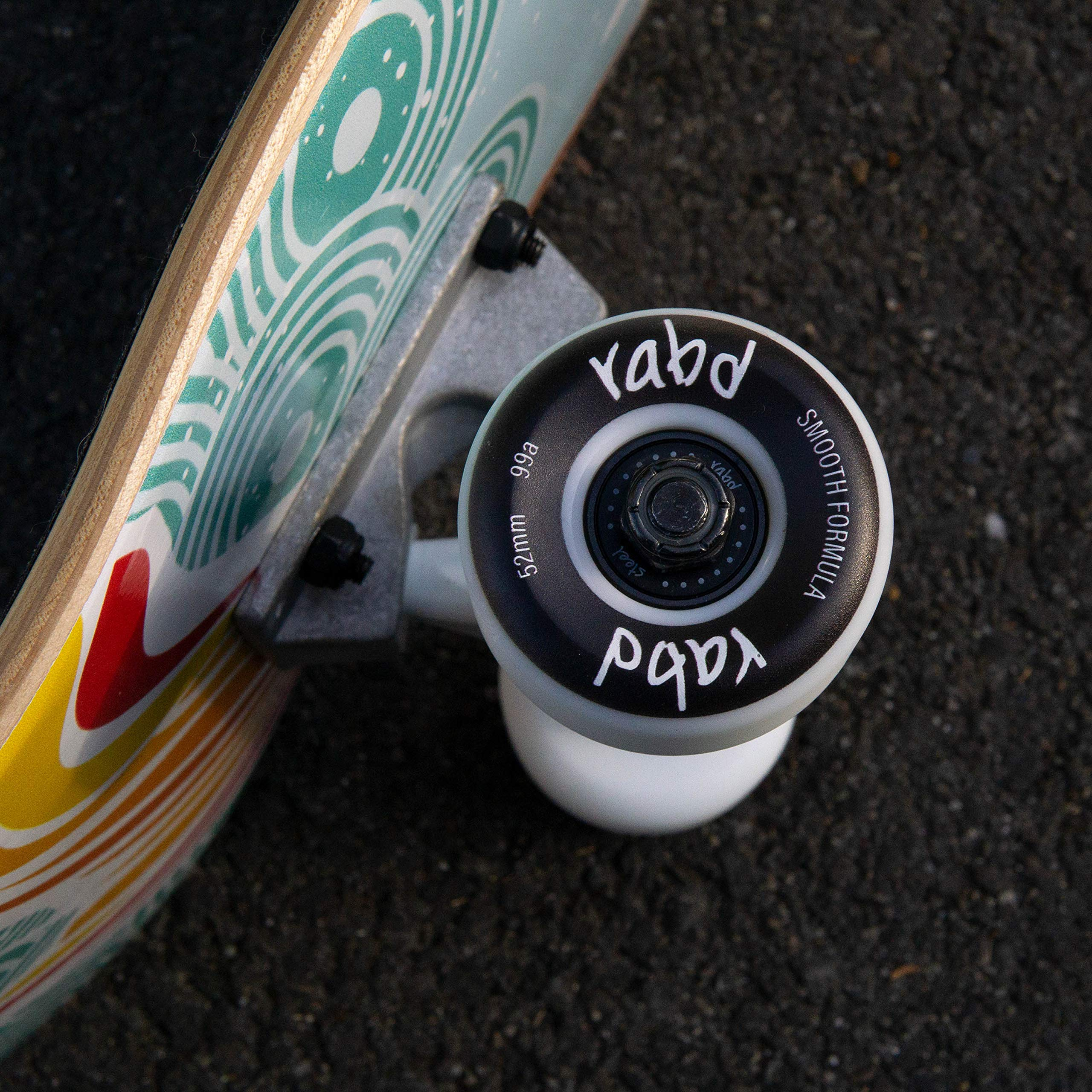 Black//Gold//White rabd Longboard Skateboard Wheels 62mm 78a Cruiser Formula