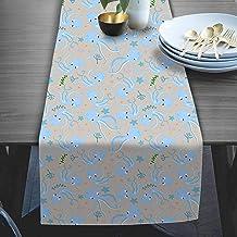 RADANYA Sea Animal Printed Table Runner Taffeta Silk Fabric Decor for Wedding Home Kitchen Birthday Party 14x72 Inches