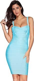 Meilun Women's Celebrity Bandage Bodycon Dress Strap Party Pencil Dress
