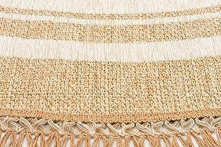 Carpetar BROOKLYN 09 Round Carpet Area Rug, Ivory - 75 x 75 cm