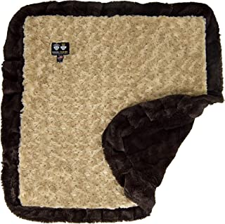 Bessie and Barnie Camel Rose/ Godiva Brown Luxury Ultra Plush Faux Fur Pet, Dog, Cat, Puppy Super Soft Reversible Blanket (Multiple Sizes), SM - 24