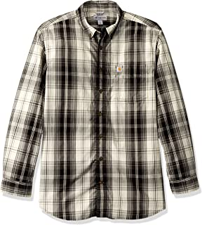 e94079b83b979 Carhartt Mens Big   Tall M Essential Plaid Button Down Long Sleeve Shirt  Work Utility Button