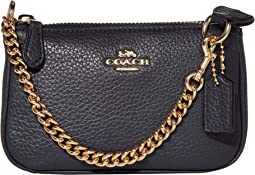 COACH Pebble Leather Small Wristlet 15,IM/Midnight
