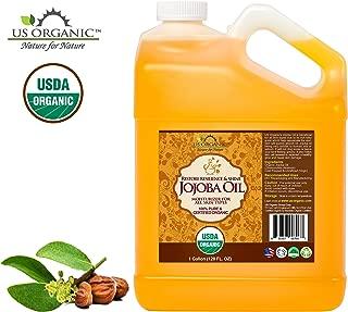 US Organic Jojoba Oil bulk pack, USDA Certified Organic,100% Pure & Natural, Cold Pressed Virgin, Unrefined, Haxane Free, 1 Gallon (128 Ounce)