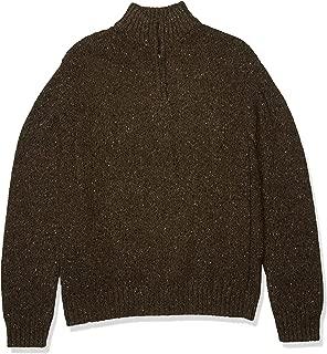 Lucky Brand Men's Donegal Half Zip Mock Neck Sweater