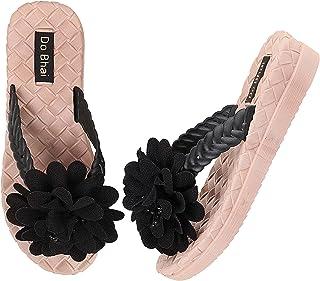 Do Bhai Women Flower Strap Slippers Flip Flop