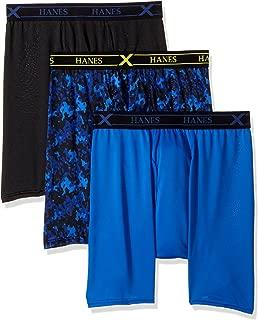 Hanes For Men Medium 3-Pack X-Temp Performance Assorted Boxer Briefs, Multi