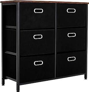 6 Drawer Dresser, Fabric Dresser Drawer Organizers,...