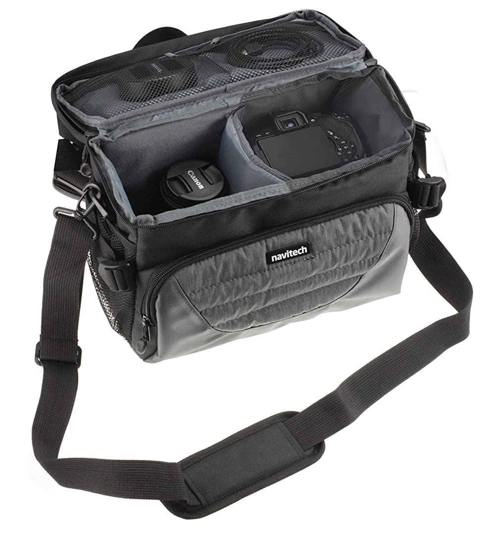 Navitech Grey DSLR & Lens Camera Bag Case Cover Compatible with The Canon EOS 4000D