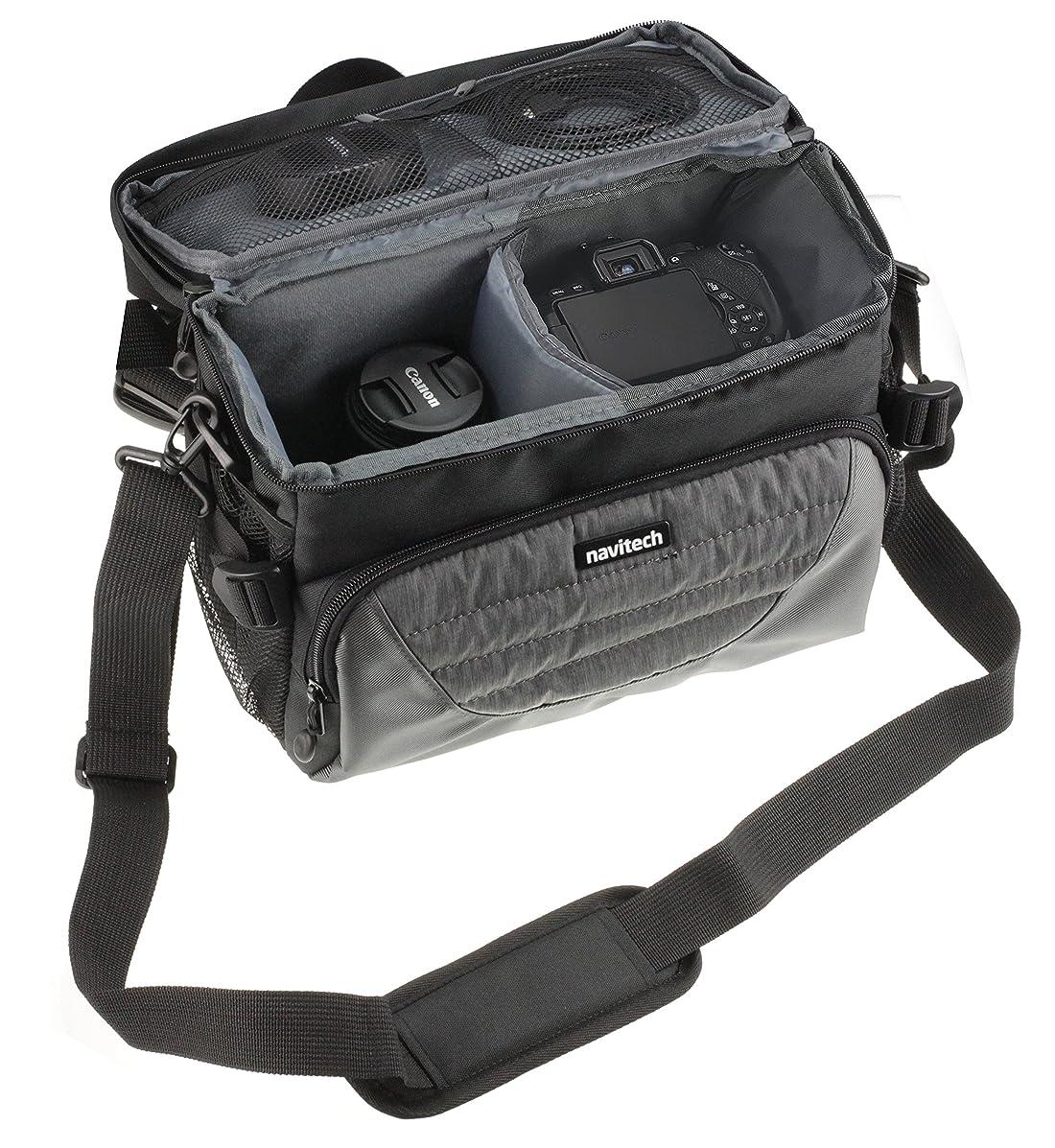 Navitech Grey DSLR & Lens Camera Bag Case Cover Compatible The Canon EOS M6