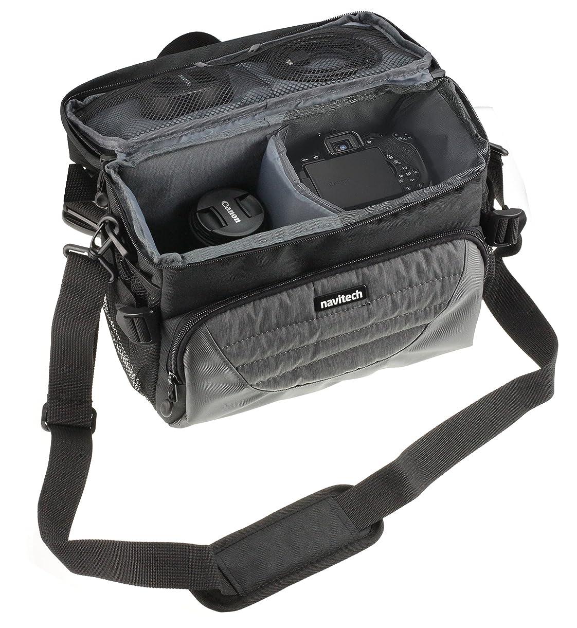Navitech Grey DSLR & Lens Camera Bag Case Cover Compatible The Nikon D850 cwquj3539