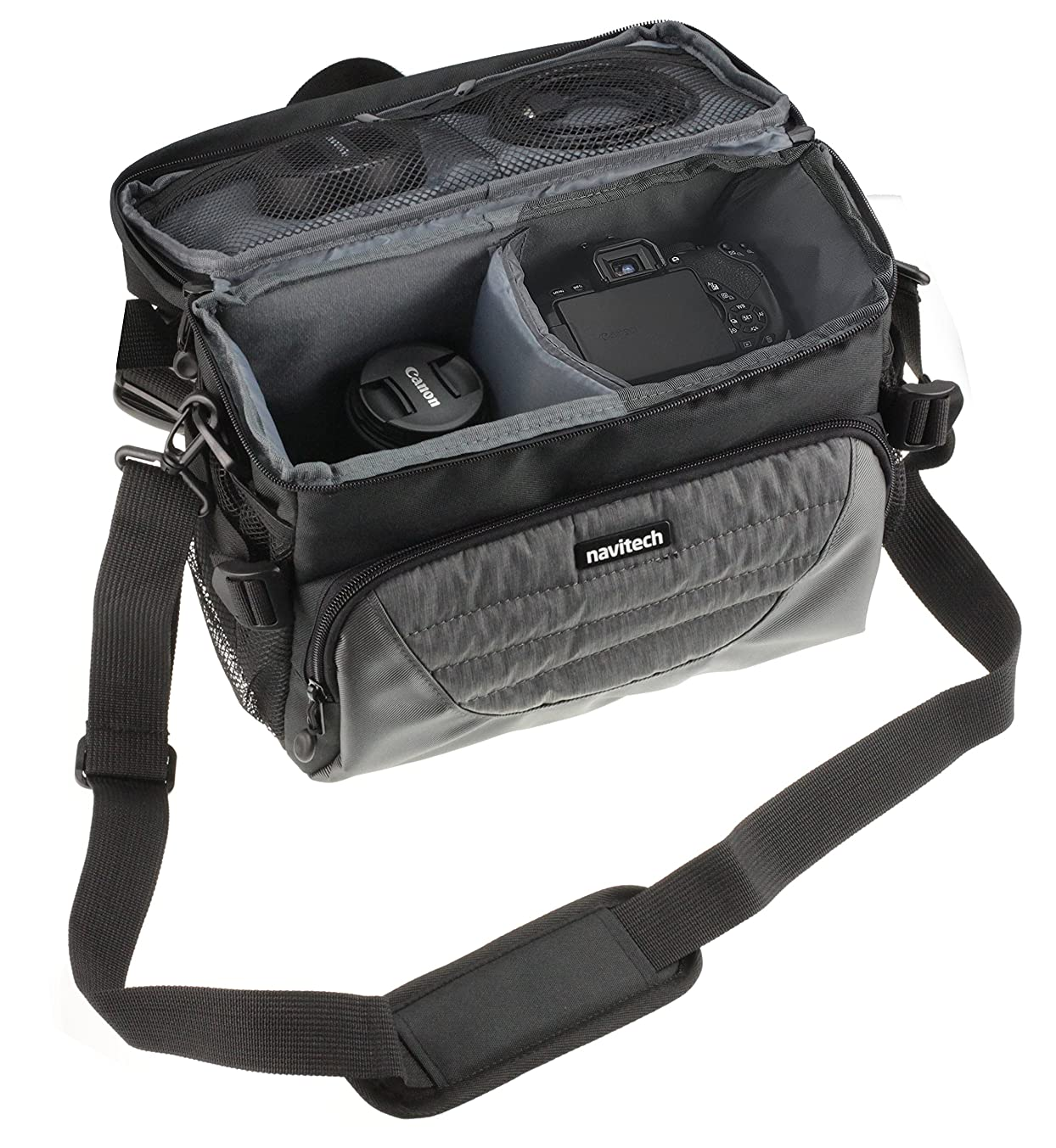 Navitech Grey DSLR & Lens Camera Bag Case Cover Compatible The Olympus OM-D E-M5 Mark II