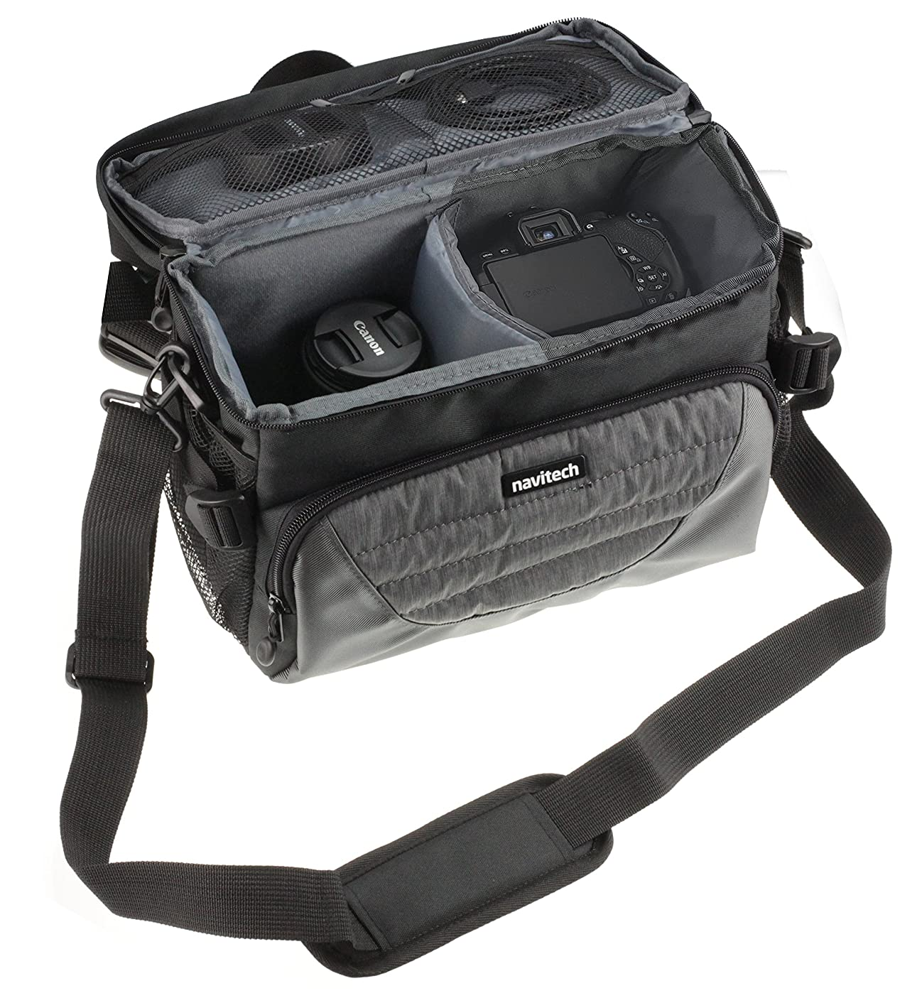 Navitech Grey DSLR & Lens Camera Bag Case Cover Compatible with The Nikon Coolpix P1000