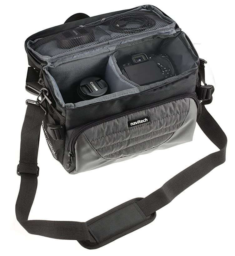 Navitech Grey DSLR & Lens Camera Bag Case Cover Compatible with The Nikon Coolpix B500