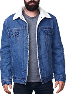 Ryker Mens Sherpa Lined Denim Trucker Jacket