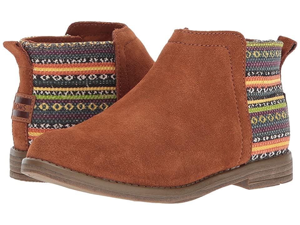 TOMS Kids Deia (Little Kid/Big Kid) (Cinnamon Suede/Tribal) Girl