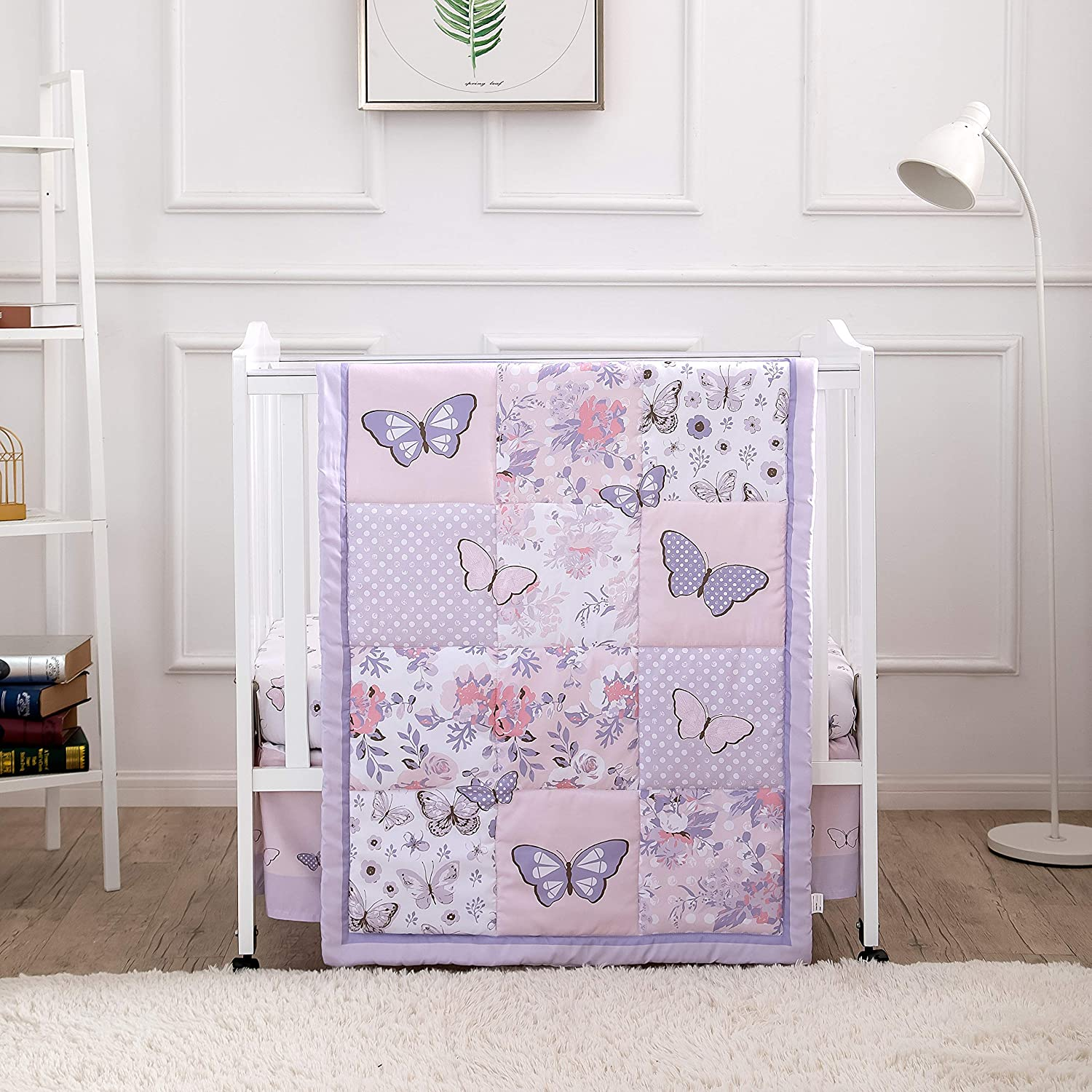 La Premura Pastel New At the price of surprise product type Purple Butterfly Portable Nursery Mini Baby