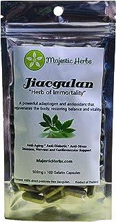 "Jiaogulan Capsules (Gynostemma Pentaphyllum) by Majestic Herbs | Organic Best Quality ""Southern Ginseng"