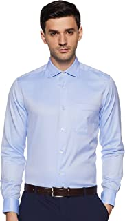 Louis Philippe Men's Striped Regular Fit Formal Permapress Shirt