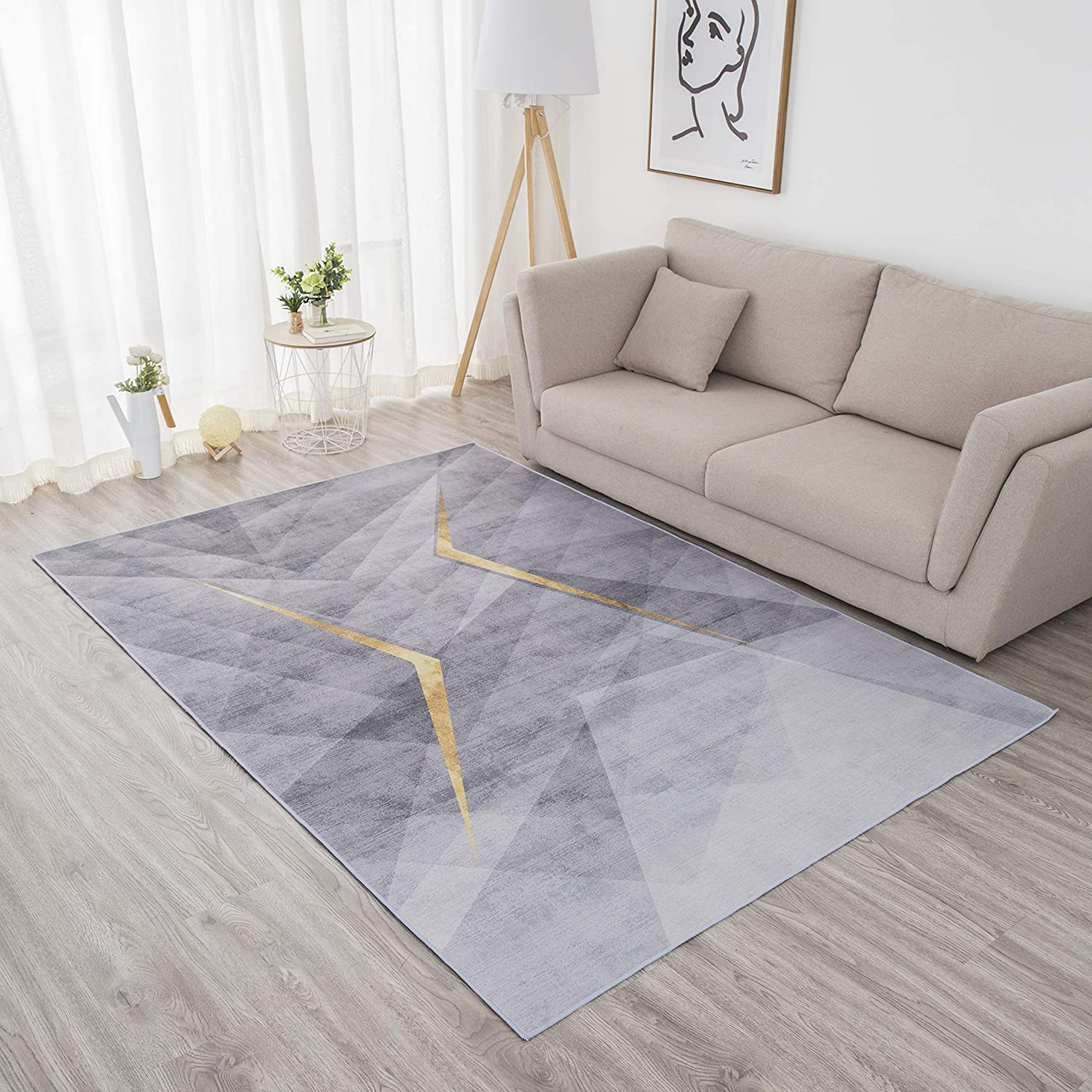 Sinofarms Luxury Printed Area Rugs Car Pattern Dealing full price reduction Modern Geometric Outlet ☆ Free Shipping