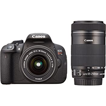 Canon デジタル一眼レフカメラ EOS Kiss X7i ダブルズームキット EF-S18-55 IS STM/EF-S55-250 IS STM付属 KISSX7I-WKIT