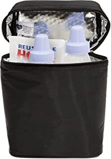 Delta Children Insulated Baby Bottle Bag | Keeps Breast Milk Cool, Stores Baby Bottles both Warm or Cold, Black